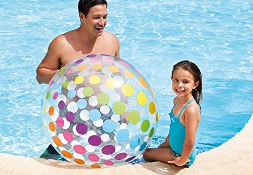 intex jumbo big panel inflable colorido bola de playa gigan