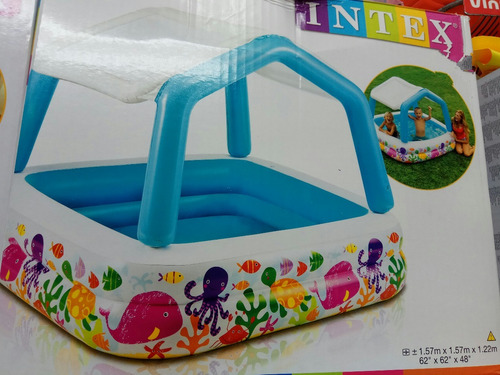 intex piscina inflable en forma de casita