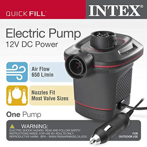 intex quick-fill dc electric air pump, 12v,