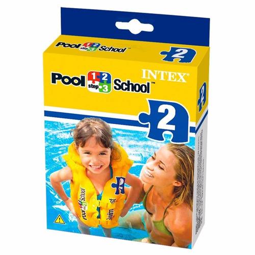 intex school pool deluxe chaleco de natación