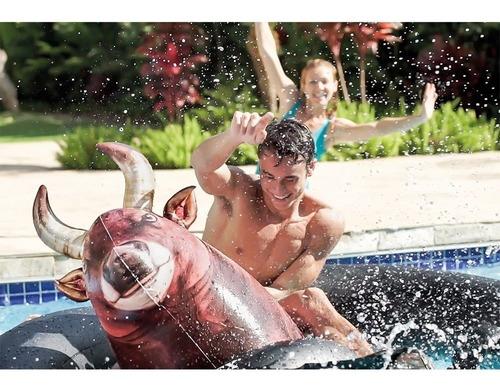 intex,toro inflable,monta un toro en agua juguete de piscina