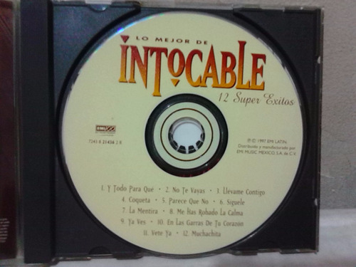 intocable - lo mejor de intocable (cd original)
