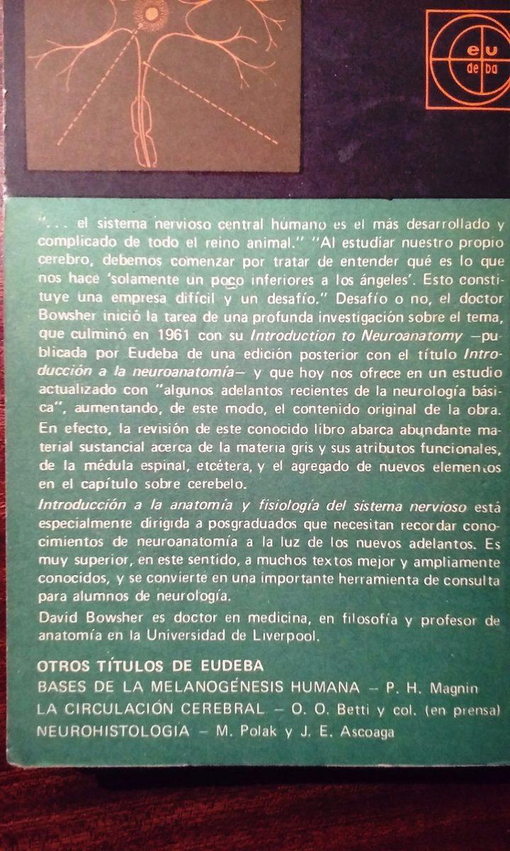 Introduccion A La Anatomia Y Fisiologia Del Sistema Nervioso - $ 80 ...