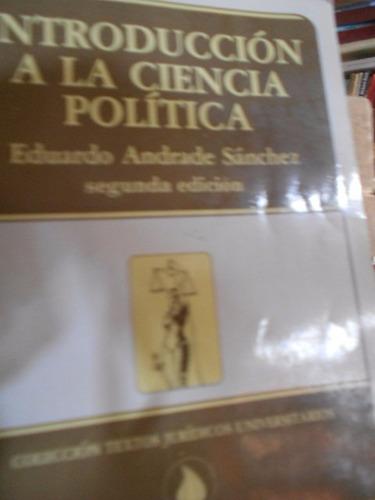 introducción a la ciencia política. eduardo andrade sánchez