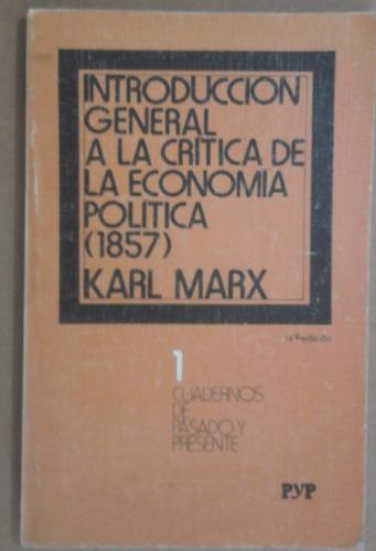 introducción a la crítica de la economía política, carl marx