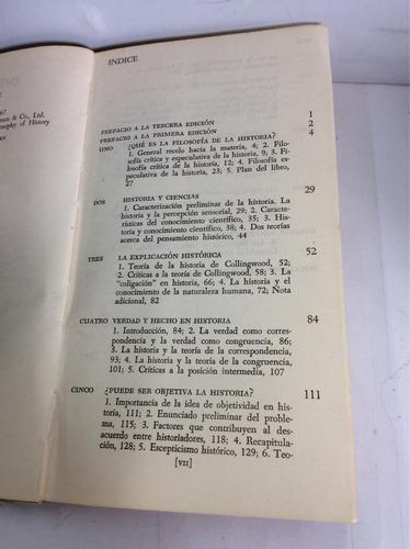 introducción a la filosofía de la historia, w. h. walsh