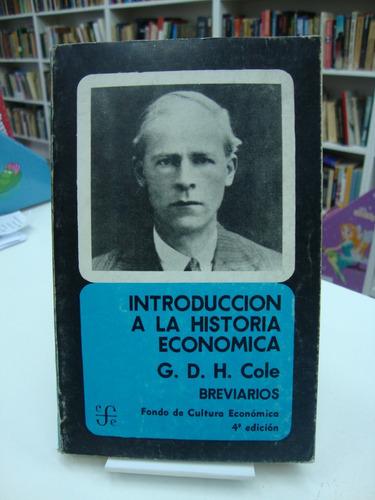 introduccion a la historia economica - g. d. h. cole