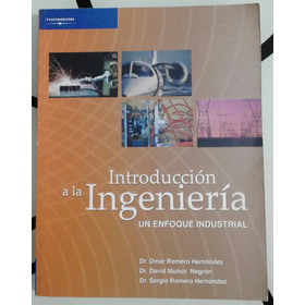 Introduccion A La Ingenieria Un Enfoque Industrial Libro