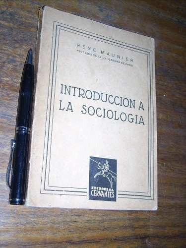 introducción a la sociología - rené maunier
