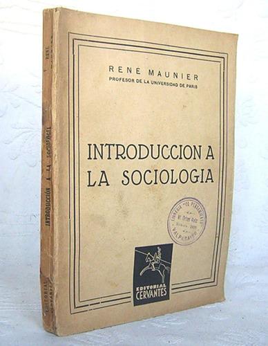 introduccion a la sociologia rene maunier