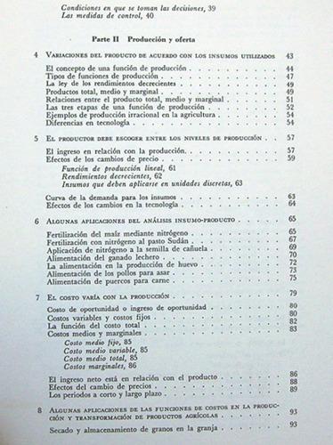 introducción al análisis de economía agrícola / c. e. bishop