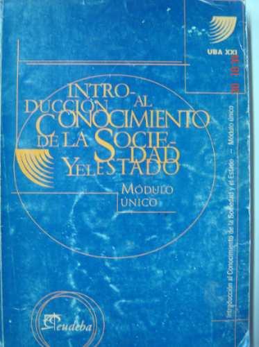 introducción al conocimiento de la sociedad y estado eudeba