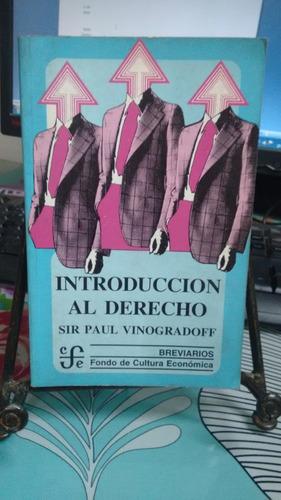 introducción al derecho // sir paul vinogradoff