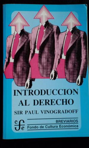 introducción al derecho / sir paul vinogradoff