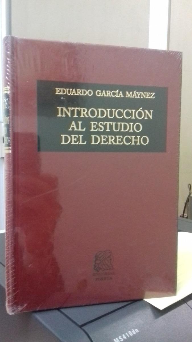 Introduccion Al Estudio Del Derecho Eduardo Garcia Maynez ...