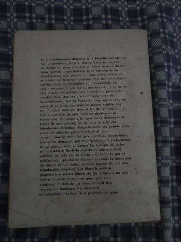introducción dinámica de la filosofía política. venturini