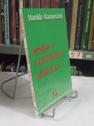 introdução a lingüística moderna - haroldo ramanzini