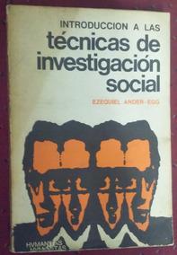 Tecnicas De Investigacion Social Ezequiel Ander Egg Pdf