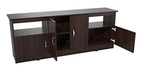 inval mtv6719 contemporary flatscreen tv stand 60inch espres