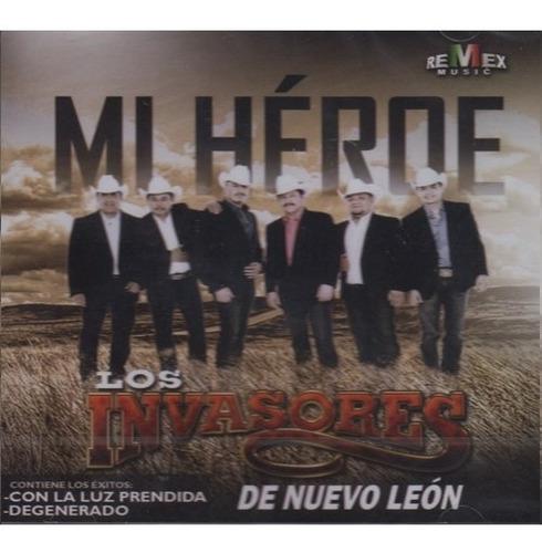 invasores de nuevo leon mi heroe cd / con 12 canciones