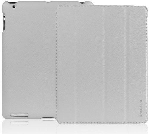 invellop gris cuero inteligente funda para ipad 2 / ipad 3