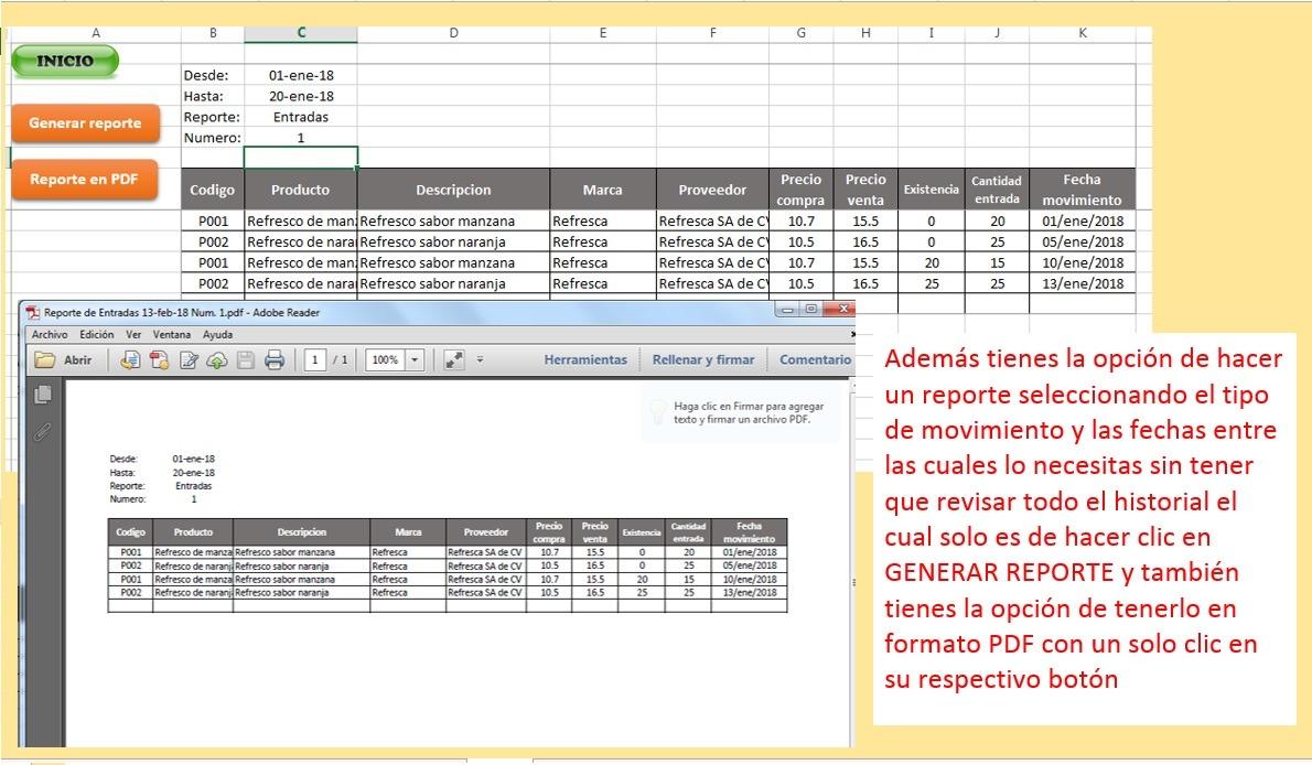 Inventario Stock, Entradas, Salidas, Plantilla En Excel - $ 150.00 ...