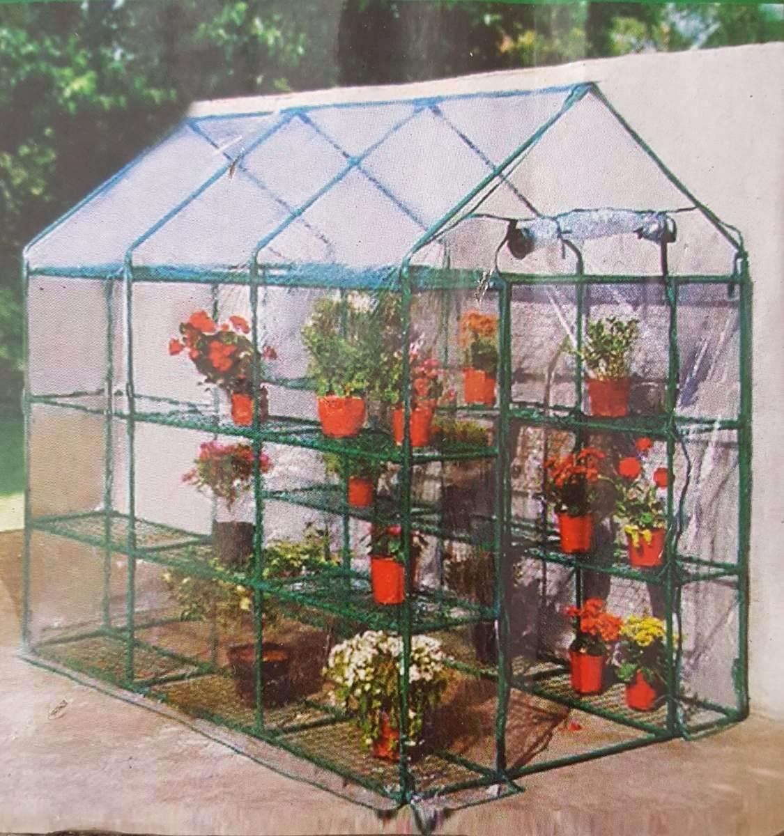 Invernadero grande ideal jardin huerta 215x143x195cm 4 for Invernaderos de jardin