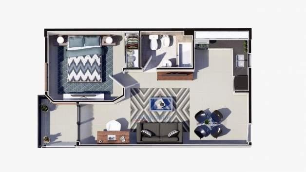 inversión financiera con financiación. depto a estrenar en pueyrredón de 1 dormitorio con balcon