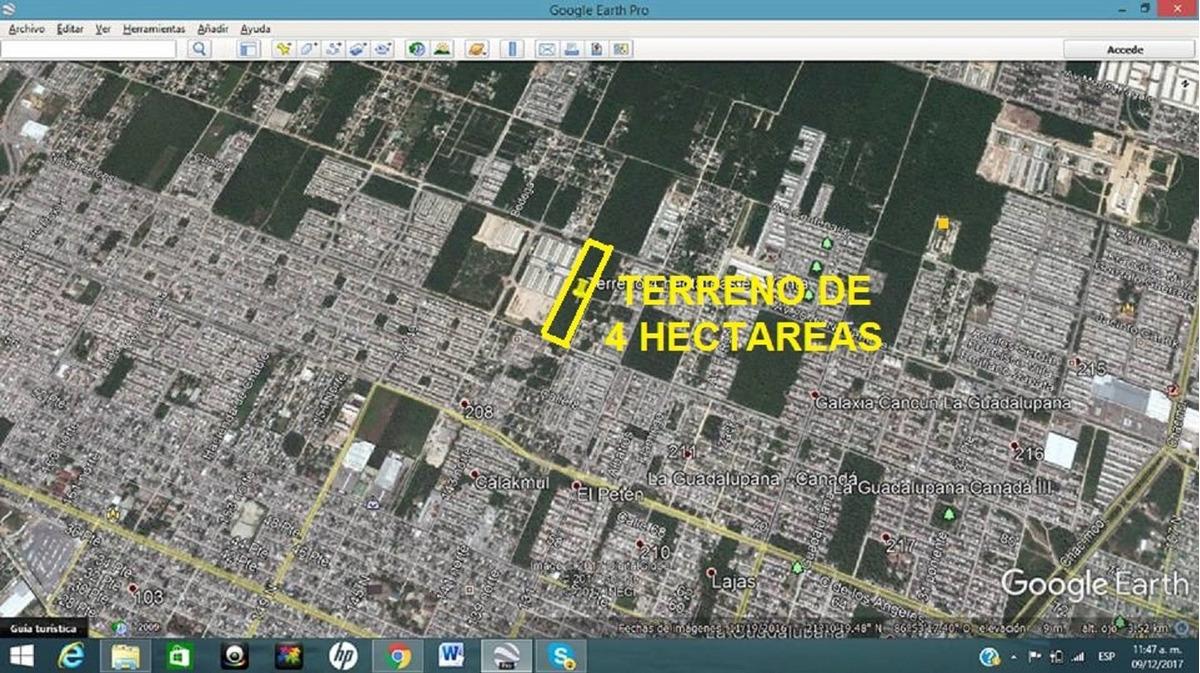 inversionista gran terreno de 4 ha perfecto para edificios