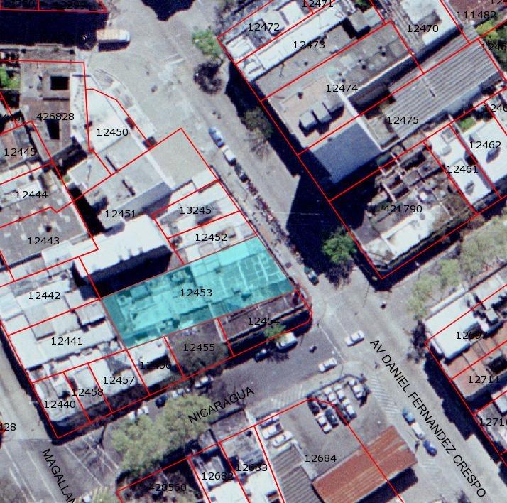 inversionistas! terreno 572 m2 2 locales 5 aptos alt. 27 mts