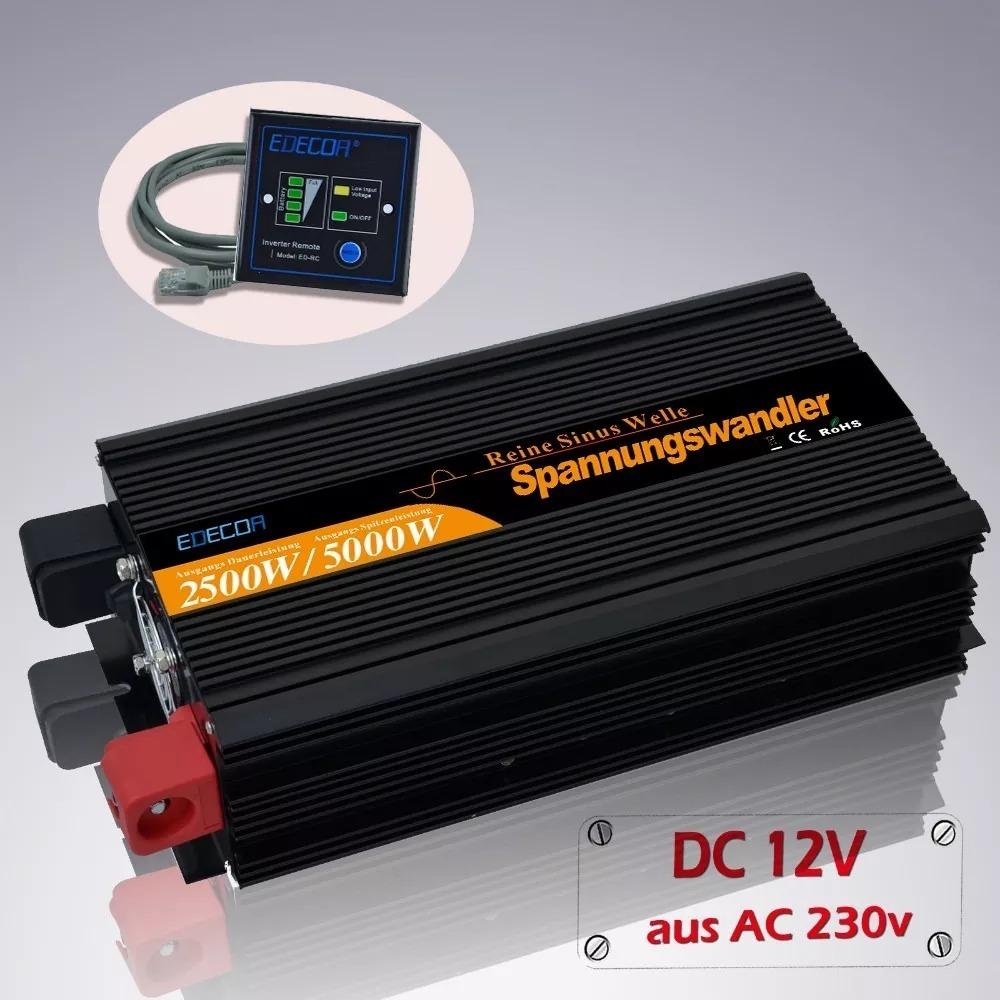 Edecoa power inverter onda sinusoidale pura 2500w 5000w