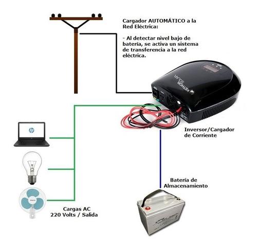 inversor / cargador de corriente 12v/700w conexión red elect