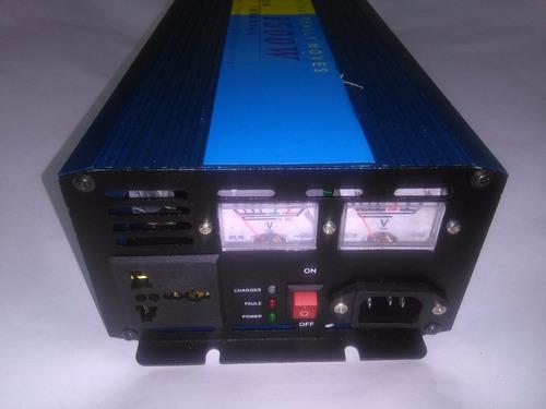 inversor cargador función ups 1500w 12 vdc/110 vdc onda pura