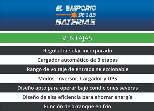 inversor cargador senoidal 24v 220v 2000w reg solar emporio