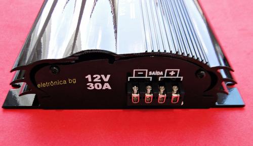 inversor conversor 24v p/ 12v 30a automotivo nautico corzus