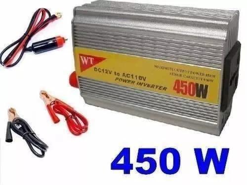 inversor conversor transformador 450w de potência 12v -110v