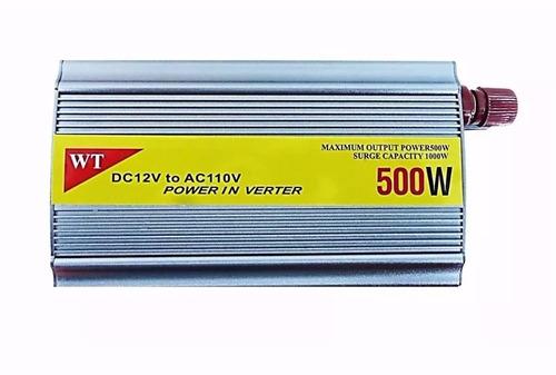 inversor conversor veicular bateria 500w dc 12v ac 110v