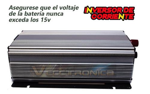inversor convertidor 1700w conecta todo a la corriente 12v
