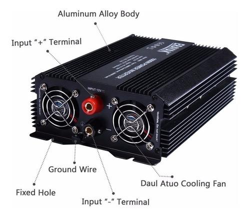 inversor corriente 1000w power inverter 3 contactos 2 usb