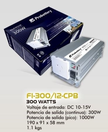 inversor corriente 12v 220v 300w /1000w convertidor tv campo