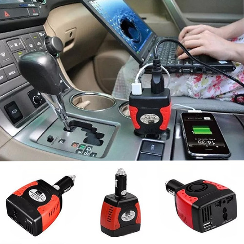 inversor corriente automotriz 12v a 110v 150w coche carga /e