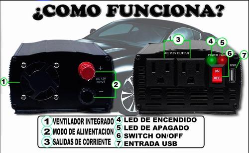 inversor d/corriente 1000w conecta todo lo quieras a tu auto