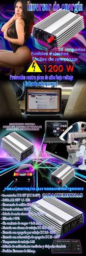 inversor d/corriente 1200w conecta todo lo quieras a tu auto