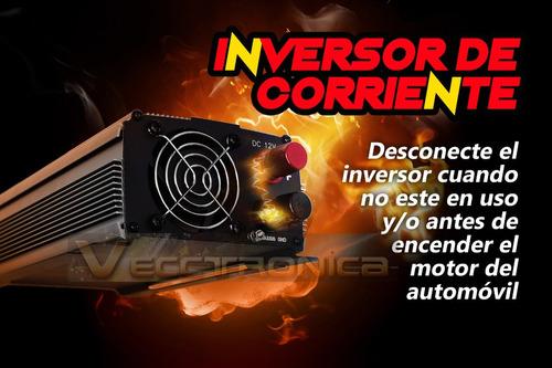 inversor d/corriente 1700w conecta todo lo quieras a tu auto