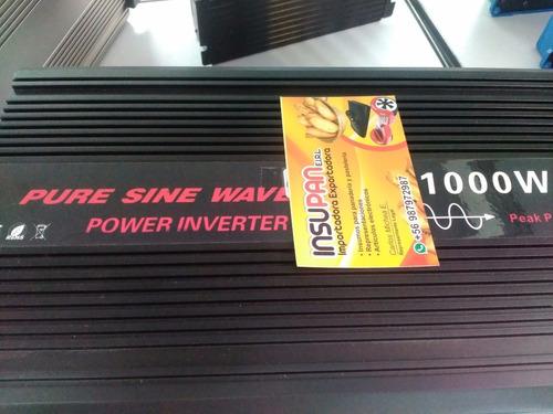 inversor de 1000 watts onda pura 12v,peak 2000 watts