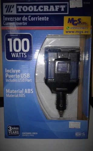 inversor de corriente 100watts marca toolcraft