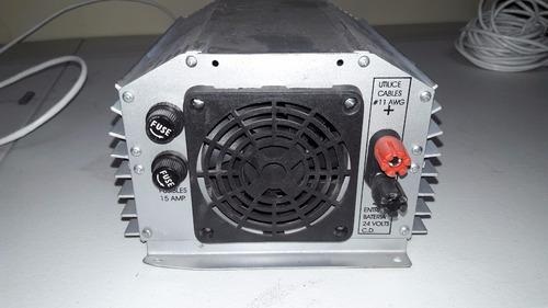 inversor de corriente 1250 watts contínuos 24vcd a 220vca