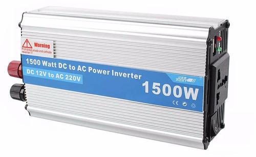 inversor de corriente 1500w - dc 12v a ca 220v - oferta