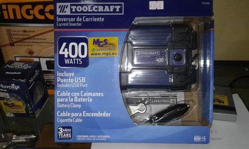 inversor de corriente 400w marca toolcraft