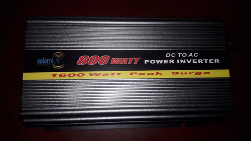 inversor de corriente, 800w 12 v, energía solar y autos